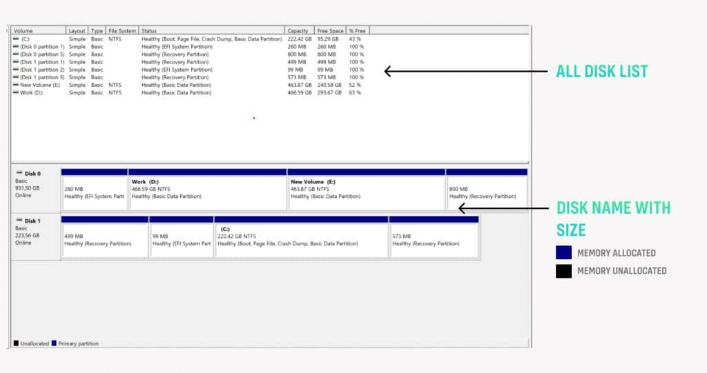 Windows Built-in Disk Management Tool